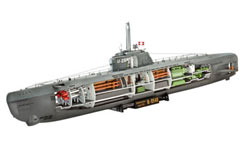 1/144 U-Boat Xxi Type With Interior - 05078