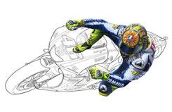 Tamiya 1/12 Valentino Rossi Figure - 14118