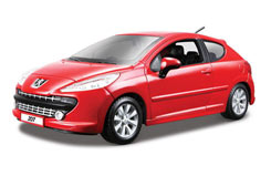 1:24 Peugeot 207 - Red - 18-22102