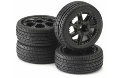 1/10 Tyre & Rim Set Bite Black Pk4 - 211000007
