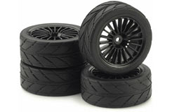 20Spk Design Slick Black Wheel Set - 211000047