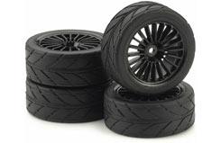 20Spk Design Slick Black Wheel Set - 211000047