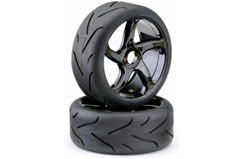 1/8 Street Black Wheel Pk2 - 214000029