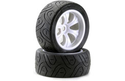 Wheels Truggy Lro 1/8 Street White - 214000037