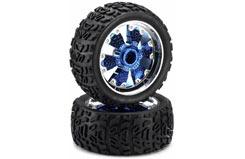 Ar 1/6 Wheels Blue Chrome Pk2 - 218000007