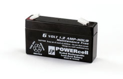 J Perkins 6V Lead Acid Battery 1.2A - 5510034