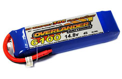 Lipo Batteries 6100mAh 4S 14.8 - 61004s30c