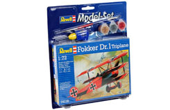 1/72 Fokker Dr1 Triplane Model Set - 64116