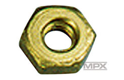 Brass Locknut 2.5Mm Pk10 - 702028