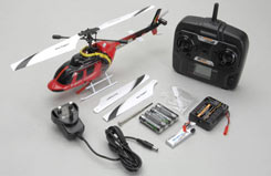 Bell 206 S-FHSS RTF Red - a-ne328brtfr