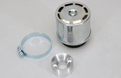 Airfilter Covered Cone Chrome - af232