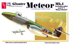 Gloster Metor Mk-1 Fighter Jet - amt825