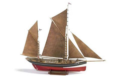 BB 1/50 Fishing Boat FD10 Yawl - b701