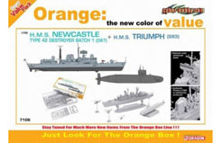 1/700 2 Pack - HMS Newcastle - dr7106