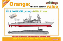 1/700 Uss Ingersoll Dd990 + Delta - dr7114
