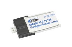 200Mah 1 Cell 3.7V Lipo - eflb2001s25