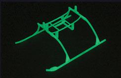 Bmcx Glow/Dark Landing Skid - eflh2222gl