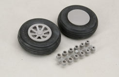 Scale Wheel-Straight Tread(2.5inch/Pr) - f-rb112