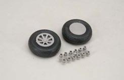 Scale Wheel-Diamond Tread (2.5inch/Pr) - f-rb131