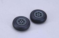 Treaded Rubber Wheel - 45Mm (Pk2) - f-rmx3045