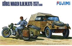 1/76 German Kubelwagen & Sidecar - f76020