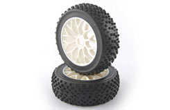 Fastrax 1/8th premounted Buggy Tyre - fast0009