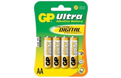 Ultra Alkaline Batteries Card Of 4A - gp15au-c4