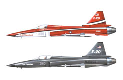 1:72 F-20 Tigershark Combo - ha0967