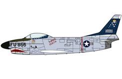 1:72 F-86D Sabre Dog Shark Teeth - ha2007