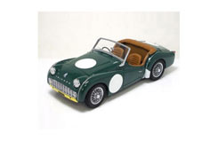 Kyosho 1/18 Triumph TR3A Green/Yell - ky8032g