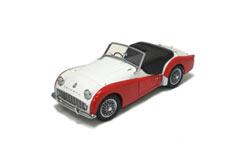 Kyosho 1/18 Triumph Tr3A White/Red - ky8032w