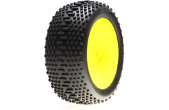Losi Mini 8ight Rear Wheel/Tyre Set - losb1890