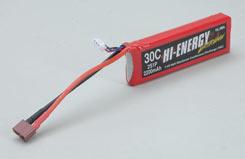 Hi-Energy 2S 2200mAh 30C Li-Po - o-he2s1p220030a