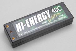 Hi-Energy 2S 5000Mah 40C Car Li-Po - o-he2s1p500040c