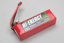 Hi-Energy 5S 3200Mah 25C Li-Po - o-he5s1p320025a