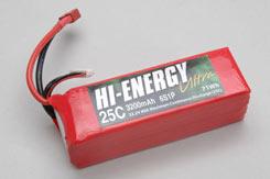 Hi-Energy 6S 3200Mah 25C Li-Po - o-he6s1p320025a