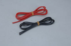 16 Gauge Sil Wire 1M Red & 1M Black - o-kmw16g1m