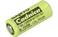 1.2V 150mAh Sanyo Cell - o-n0150n