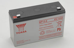6V 12.0Ah Yuasa Lead Acid Battery - o-np12-6