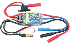 Brushless Esc 25A  N6~10 / Li-Po2~3 - p-xtra-25bl
