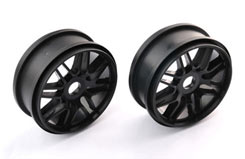 Multi 1/8 Spoke Wheels Black - pd1981b