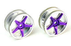 Wheels Silver Purple Pk2 - pd6601p