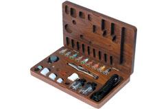 A470M Metal Airbrush Set - Wood Box - t-az7778