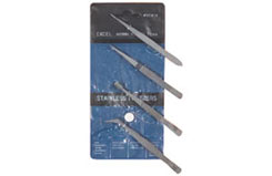 Tweezers - 4 Piece Pouch Set - t-ex30416