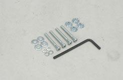 Cap Screw (4-40X1inch) W/Bl.Nut (Pk4) - t-gpmq3504