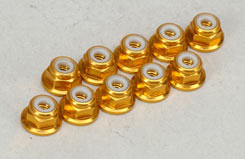 3Mm Fl. Nyloc - Anodised Gold - t-mx-nut313
