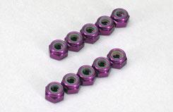 4Mm Nyloc - Anodised Purple - t-mx-nut402