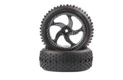 Raid Carbon Swirl Wheel/Tyre Set - tar532020tq