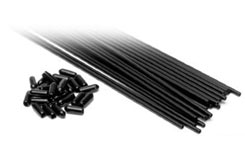 25 Black Aerial Tubes & Tips - tb2003bk
