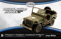 Testors 1/32 Jeep Willys Army Green - te630019n
